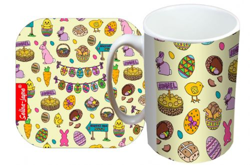 Selina-Jayne Easter Limited Edition Designer Mug and Coaster Set